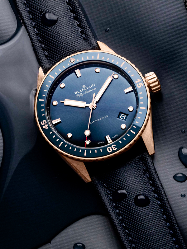 Feature - 0 FIFTY FATHOMS BATHYSCAPHE  SEDNA GOLD 5000